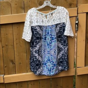 Anthropologie Lace Sleeve Tunic